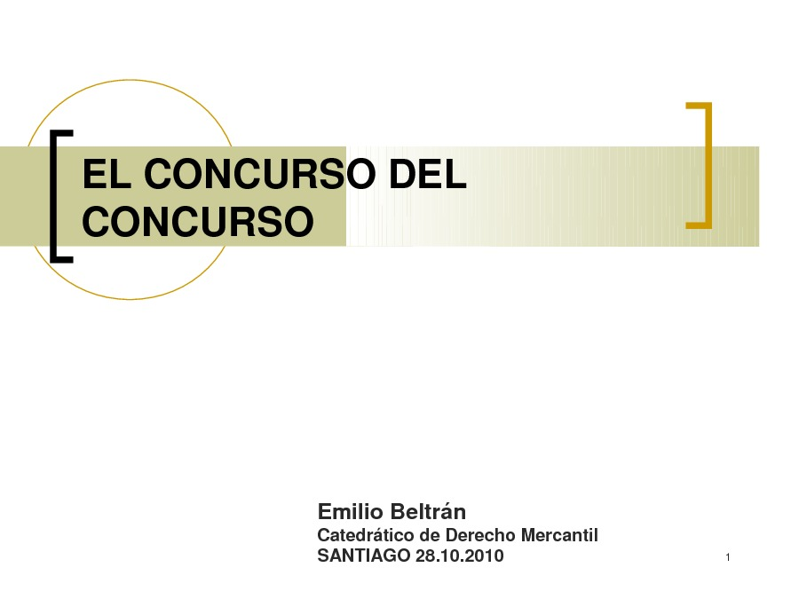 Presentación Emilio Beltrán Sánchez, Catedrático de Dereito Mercantil na Univ. CEU-San Pablo de Madrid
